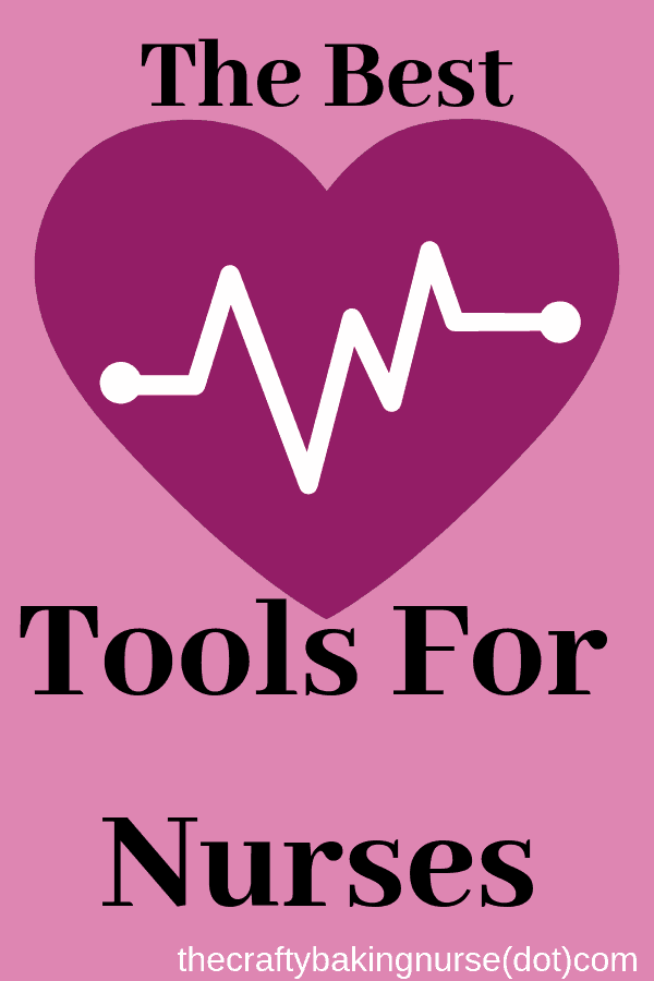 Picture of pink heart with text the best tools for nurses