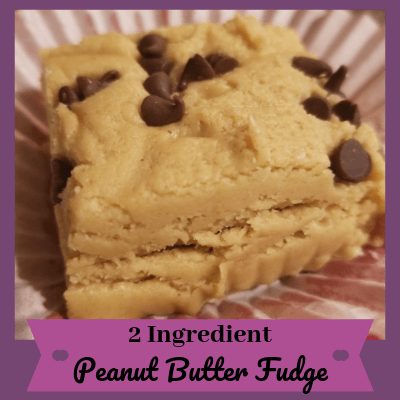 2 Ingredient Peanut Butter Fudge