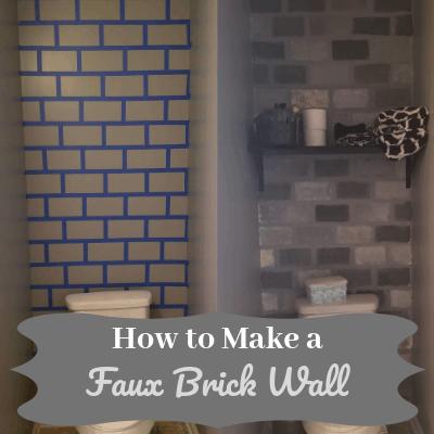 How to Make a DIY Faux Brick Wall