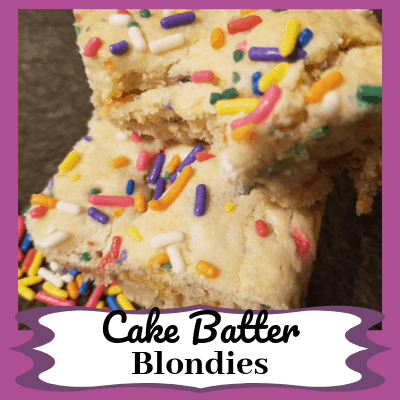 Easy Cake Batter Blondies