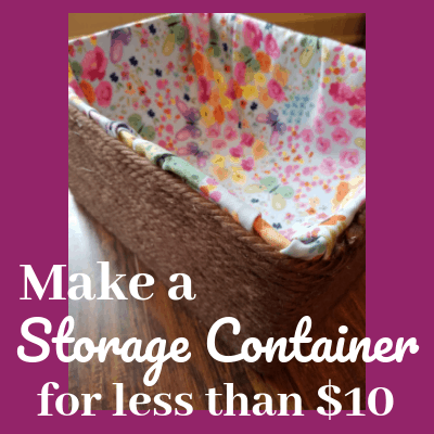 DIY storage container