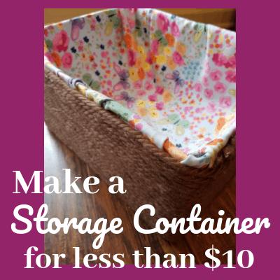 diy storage container