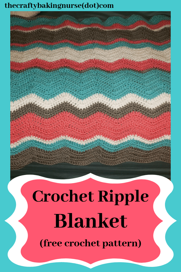 Crocheted Ripple Blanket