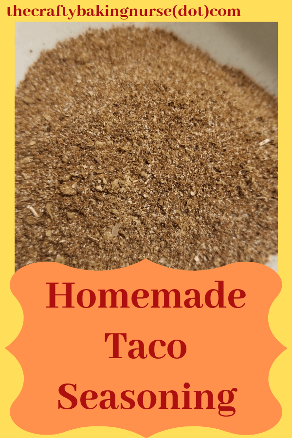 Homeamde taco seasoning