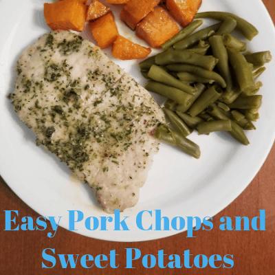 Easy Pork Chops and Sweet Potatoes