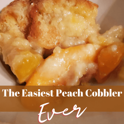 The Easiest Peach Cobbler
